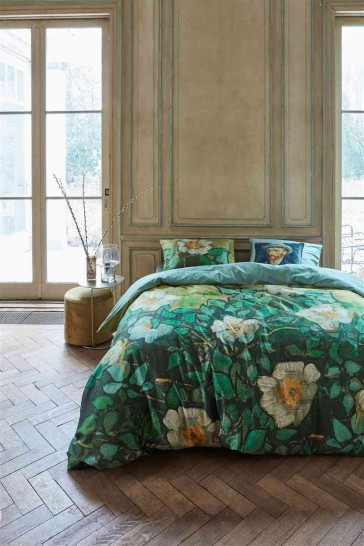 Van Gogh Museum Wild Roses Green Quilt Cover Set by Bedding House