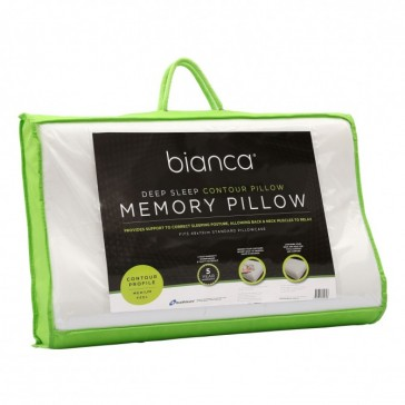 Deep Sleep Contour Profile Memory Foam Pillow by Bianca