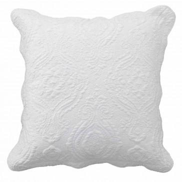 Cordelia White European Pillowcase