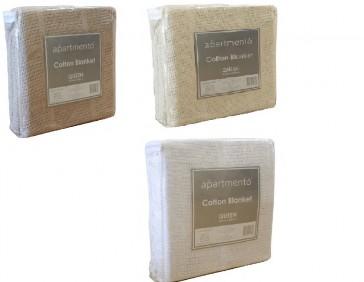 Cotton Cellular Double Blanket by Apartmento
