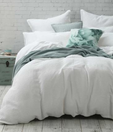 Cotton Waffle King Quilt Cover Set by MM linen