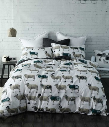 Counting Sheep Ks/Double Quilt Cover Set by MM linen