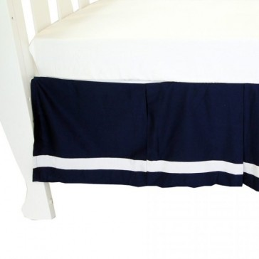 Breezy Blue Cot Valance by Babyhood