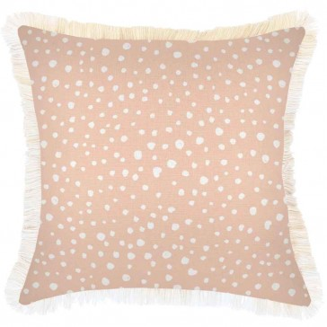 Cushion Cover Coastal Fringe Lunar Blush by Escape To Paradise