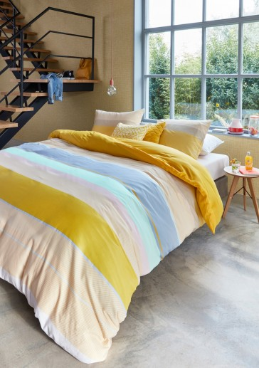 Kata Yellow Cotton Sateen Quilt Cover Set by Bedding House