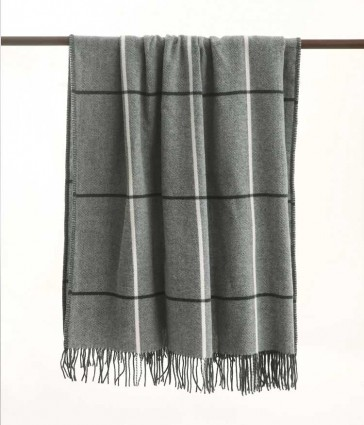 Darcy Grey Throw Rug by MM linen