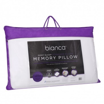 Deep Sleep Standard Memory Foam Pillow Low Profile by Bianca