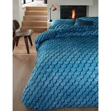 Layered Tones Blue Cotton Percale Quilt Cover Set by Bedding House