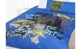 Dino City Double Quilt Cover by Happy Kids