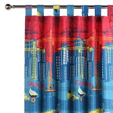 Construction Curtain by Happy Kids