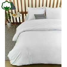 Campana White Embroidered Cotton Quilt Cover Set by Bedding House