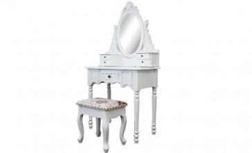 Dressing Table 5 Drawers With Mirrors & Stool 04 by Living Good