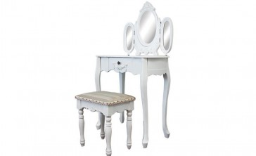 Dressing Table With 3 Mirrors & Stool 01 by Living Good