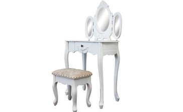 Dressing Table with 3 Mirrors & Stool 02 by Living Good