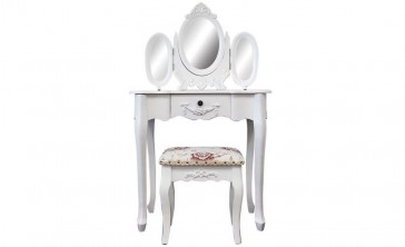 Dressing Table With 3 Mirrors & Stool 03 by Living Good