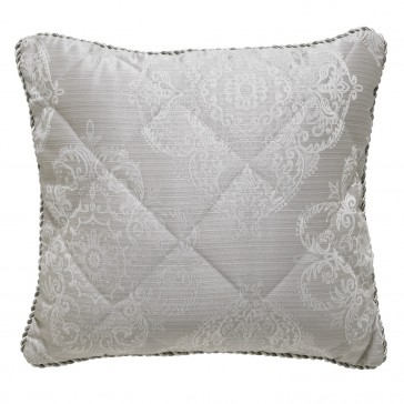 Eleanor Silver Square Cushion by Bianca