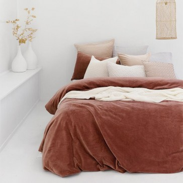 Emerson Queen Quilt Cover Set Cayenne by Bambury