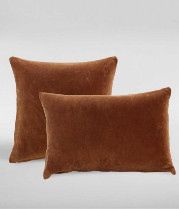 Encore Terracotta Square Cushion by MM linen