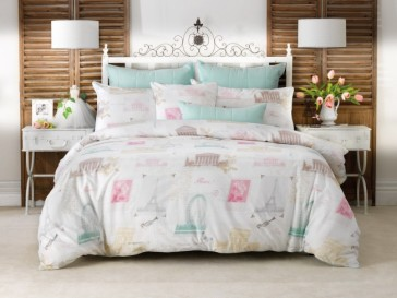 Laila Vivid Coordinates European Pillowcase by Bianca