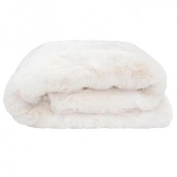Faux Fur Throw Ivory by Bambury