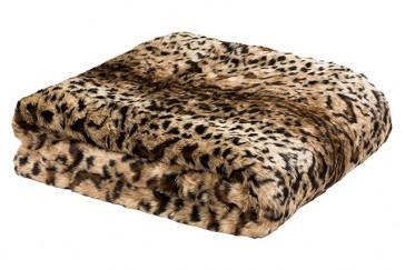 Faux Fur 130x150cm Throw Rug Chinchilla