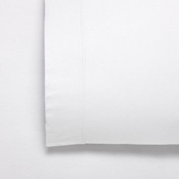 Fletcher White Single Flannelette Cotton Twill Weave 170gsm Sheet Set by Bianca