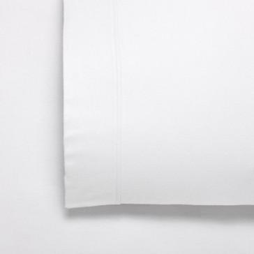 Fletcher White Double Flannelette Cotton Twill Weave 170gsm Sheet Set by Bianca