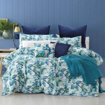 Flinders Blue Queen Quilt Cover Set
