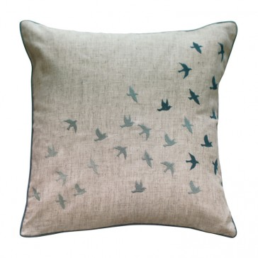 Flock of Birds Cushion by MM Linen
