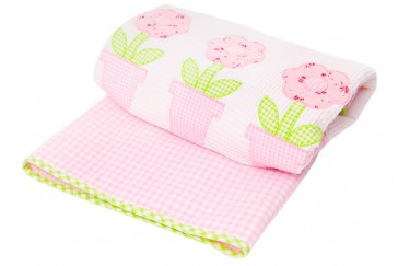 Flower Baby Cot Comforter by Lullaby Linen