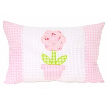 Flowerpot Applique Cushion by Lullaby Linen