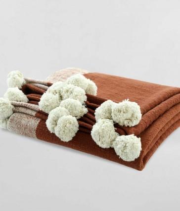 Gigi Terracotta Throw Rug by MM linen