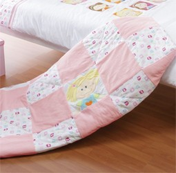 Playgro Girls And Twirls Quilted Throw by Babyhood