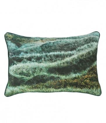 Grassy Hills Rectangular Cushion by MM Linen