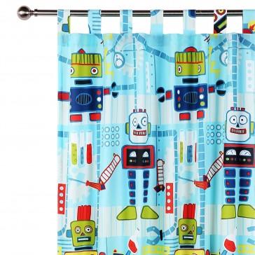 Robot Workshop Curtain by Happy Kids
