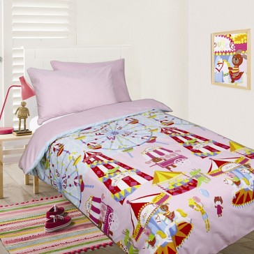 Fun at the Fair Pink Double Quilt Cover Set by Happy Kids
