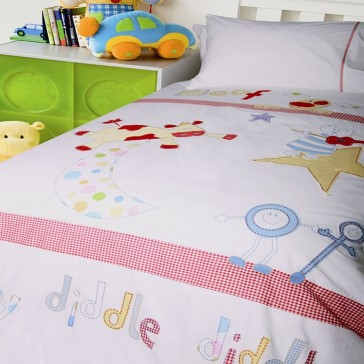 Hey Diddle Diddle Single Quilt Cover Set by Happy Kids