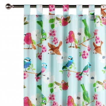 Summer Birds Curtain by Happy Kids