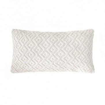 Ilka Cushion Ivory by Bambury