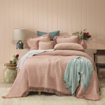 Keira Blush Coverlet Set by Bianca