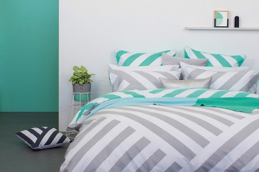 Kobi Queen Quilt Cover Set by Bambury