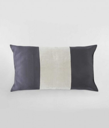 Linen Panel Charcoal Cushion by MM linen