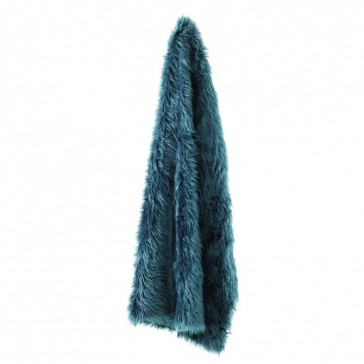Ledbury Teal Throw Rug