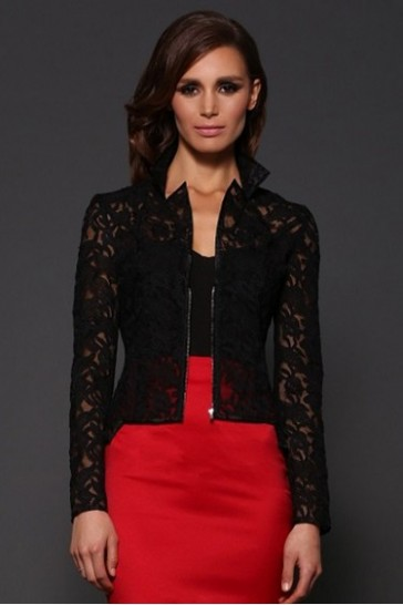 Lola Black Jacket Front