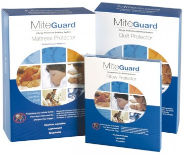 Mite Guard Queen Mattress Protector by Bambury