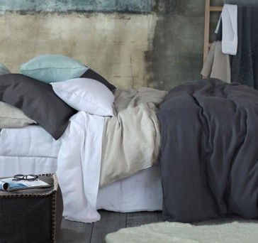 Laundered Linen King Single Sheet Set by MM Linen