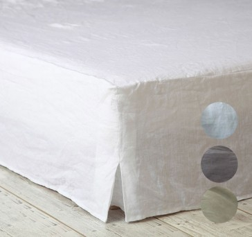 Laundered Linen Super King Valance by MM Linen