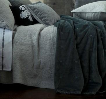 Vivi Charcoal European Pillowcase Pair by MM linen