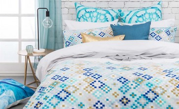Mosaic Super King Quilt Cover Set by Bambury