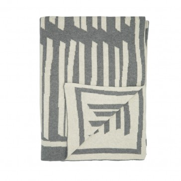 New Lines Grey Marle Cotton Throw by Scout